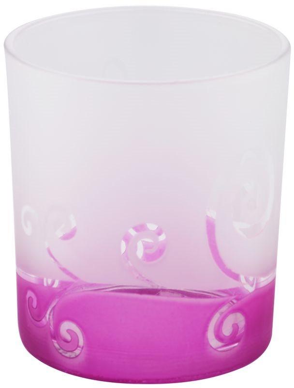 Yankee Candle Purple Scroll Üveg gyertyatartó fogadalmi gyertya alá
