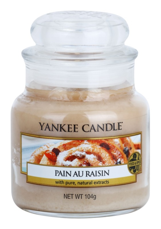 Yankee Candle Pain au Raisin bougie parfumée 104 g Classic petite