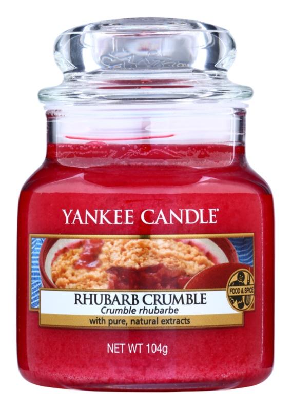 Yankee Candle Rhubarb Crumble Geurkaars 105 gr Classic Mini