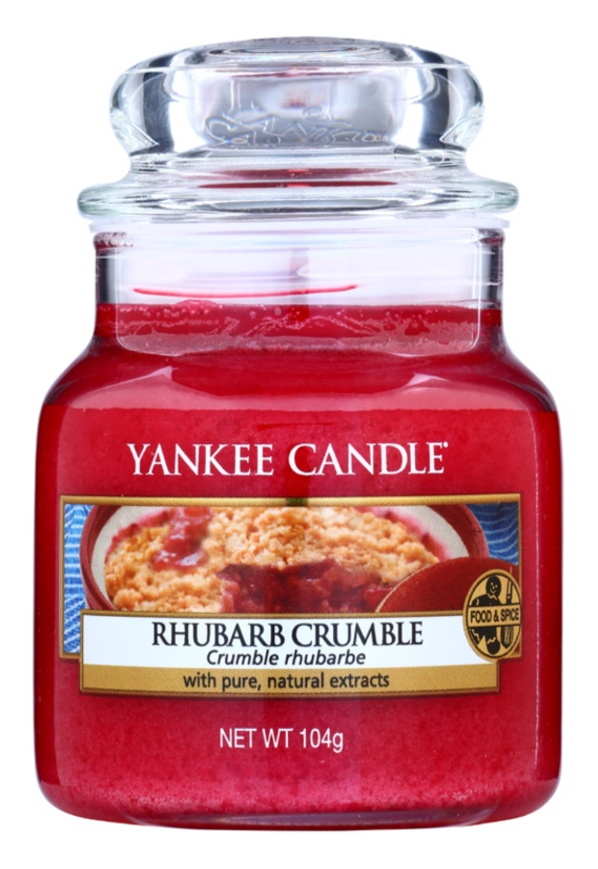 Yankee Candle Rhubarb Crumble vela perfumada  105 g Classic pequeña