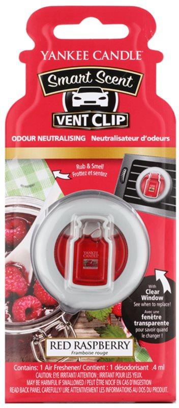 Yankee Candle Red Raspberry ambientador de coche para ventilación 4 ml clip