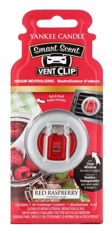 Yankee Candle Red Raspberry illat autóba 4 ml clip