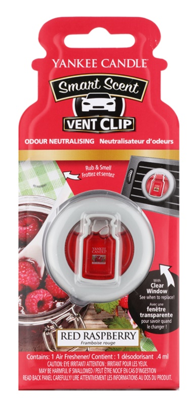 Yankee Candle Red Raspberry vôňa do auta 4 ml clip