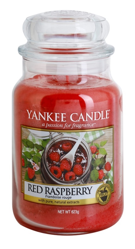 Yankee Candle Red Raspberry vela perfumada  623 g Classic grande