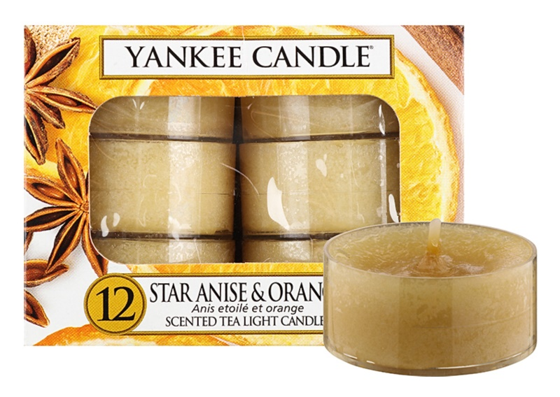 Yankee Candle Star Anise & Orange świeczka typu tealight 12 x 9,8 g