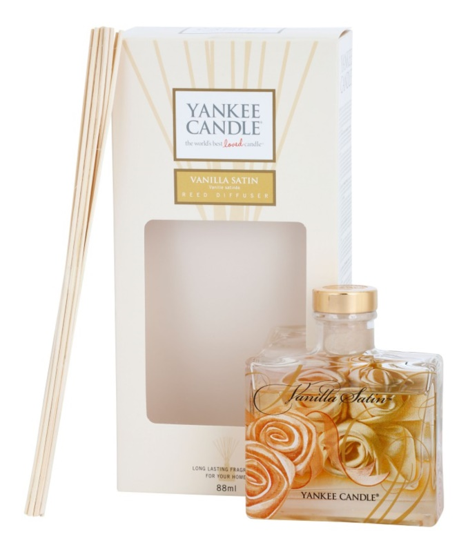 Yankee Candle Vanilla Satin dyfuzor zapachowy z napełnieniem 88 ml Signature