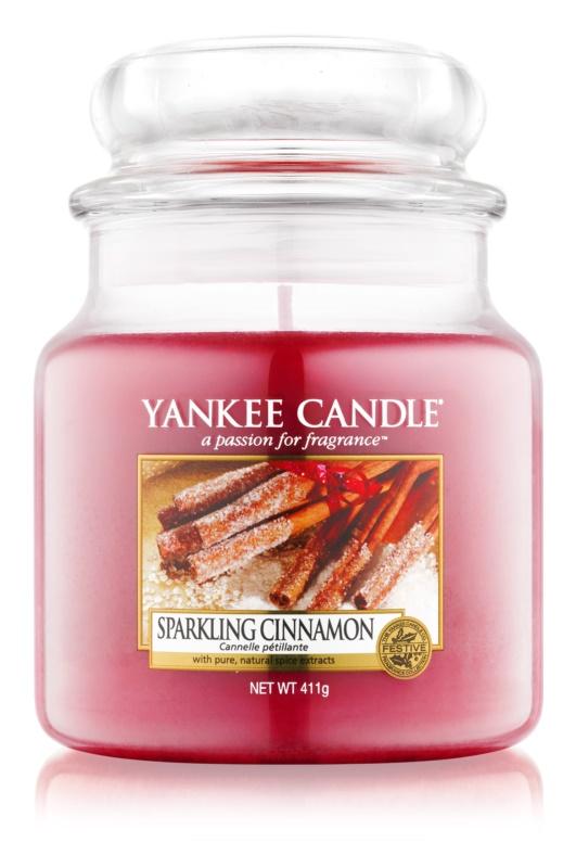 Yankee Candle Sparkling Cinnamon vonná sviečka 411 g Classic stredná