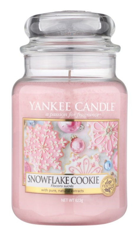 Yankee Candle Snowflake Cookie bougie parfumée 623 g Classic grande