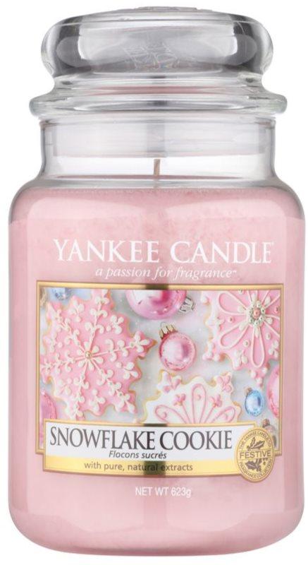 Yankee Candle Snowflake Cookie illatos gyertya  623 g Classic nagy méret