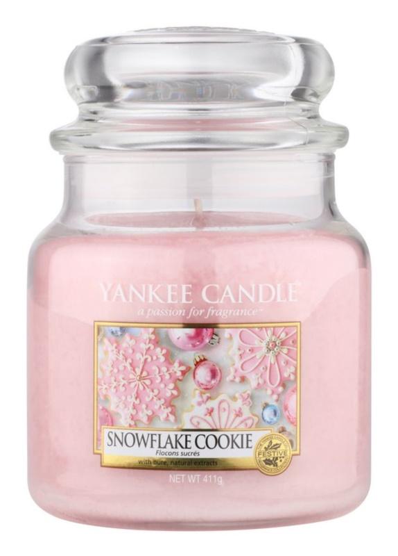 Yankee Candle Snowflake Cookie Geurkaars 411 gr Classic Medium
