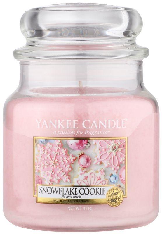 Yankee Candle Snowflake Cookie świeczka zapachowa  411 g Classic średnia