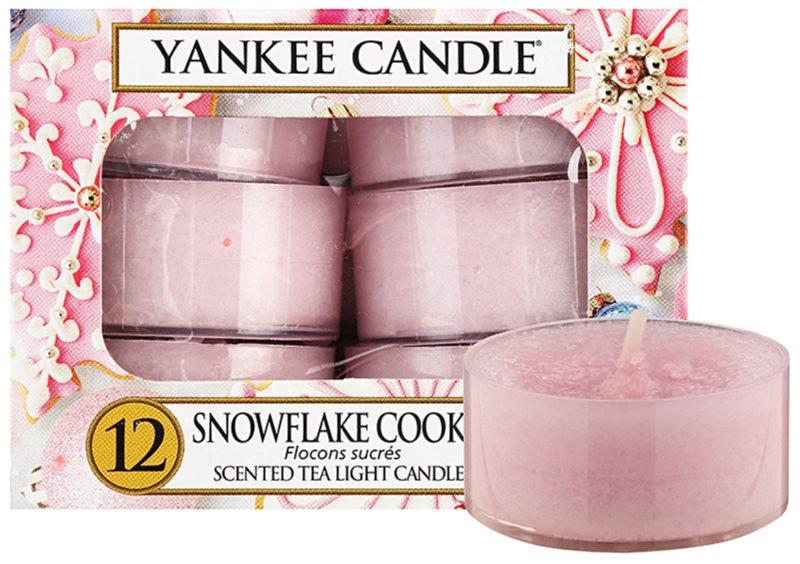 Yankee Candle Snowflake Cookie čajna svijeća 12 x 9,8 g