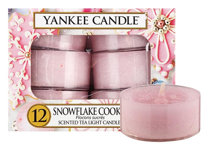 Yankee Candle Snowflake Cookie čajová sviečka 12 x 9,8 g