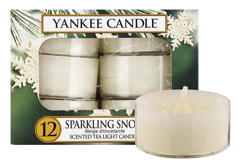 Yankee Candle Sparkling Snow lumânare 12 x 9,8 g