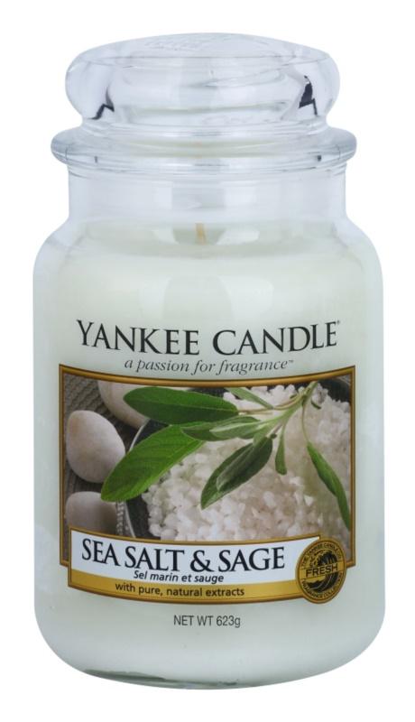 Yankee Candle Sea Salt & Sage Αρωματικό κερί 623 γρ Κλασικό μεγάλο