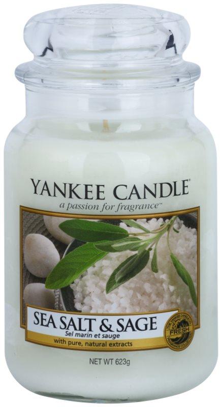Yankee Candle Sea Salt & Sage świeczka zapachowa  623 g Classic duża