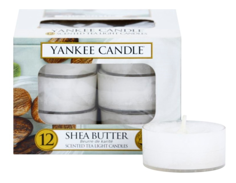 Yankee Candle Shea Butter čajová sviečka 12 x 9,8 g