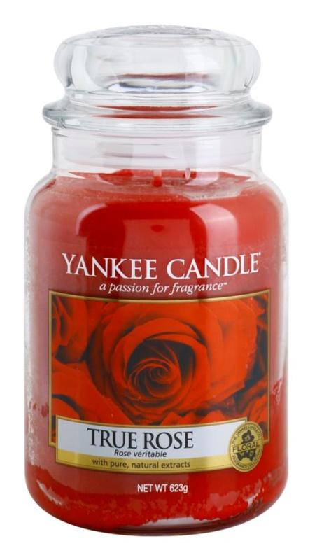Yankee Candle True Rose świeczka zapachowa  623 g Classic duża