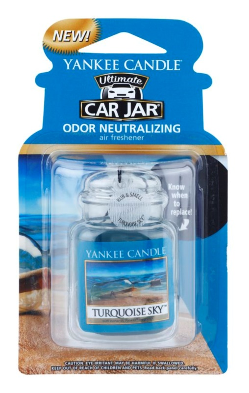Yankee Candle Turquoise Sky Car Air Freshener   hanging
