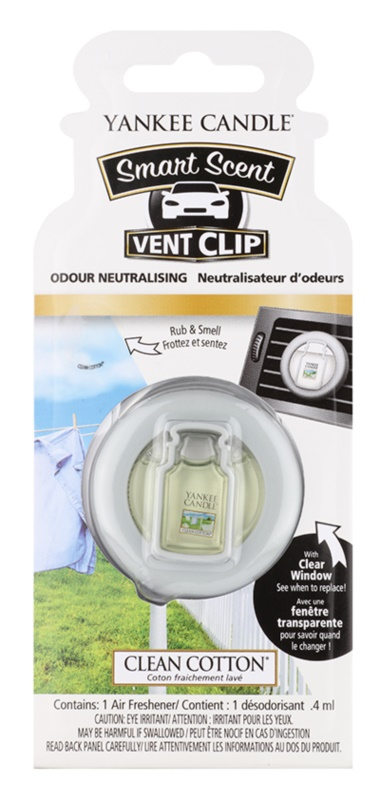 Yankee Candle Clean Cotton Autoduft 4 ml Clip