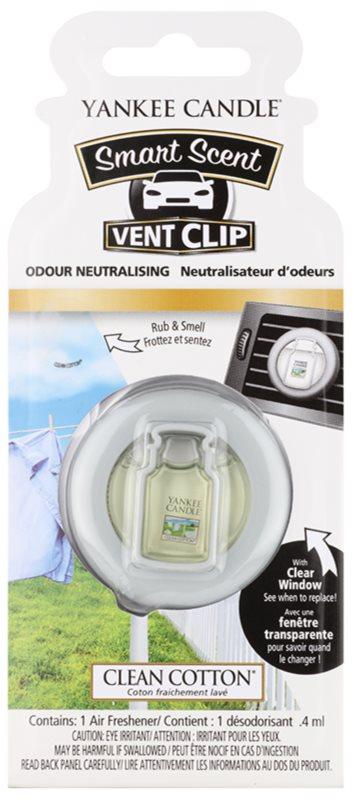 Yankee Candle Clean Cotton Car Air Freshener 4 ml Clip