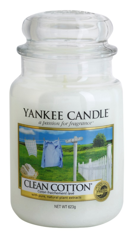 Yankee Candle Clean Cotton ароматна свещ  623 гр. Classic голяма