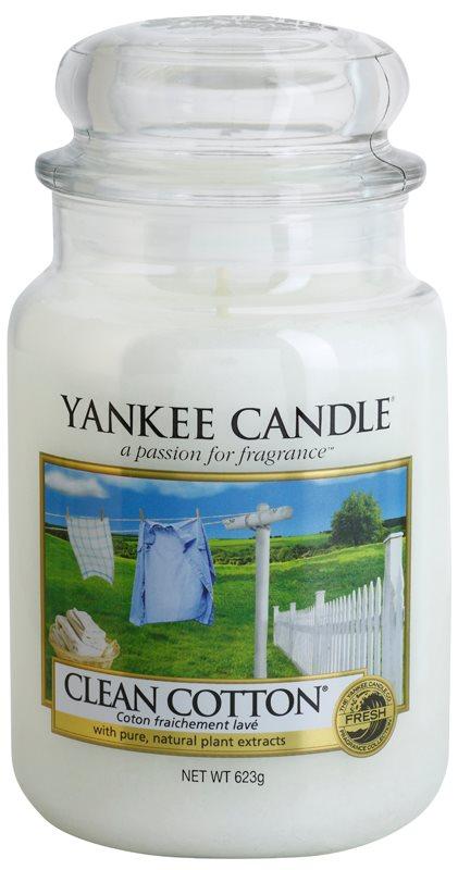 Yankee Candle Clean Cotton vela perfumado 623 g Classic grande