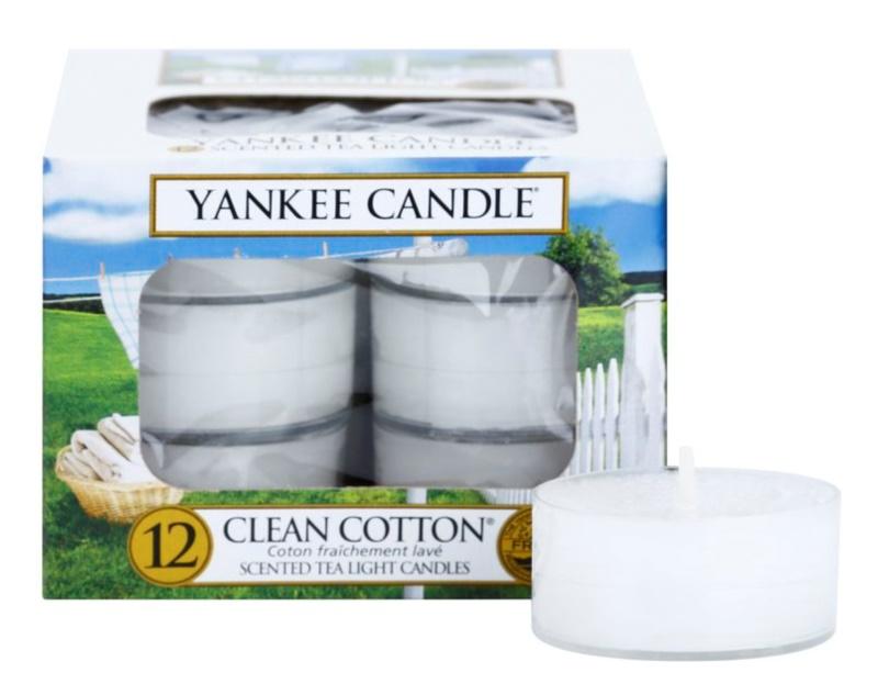 Yankee Candle Clean Cotton čajová svíčka 12 x 9,8 g