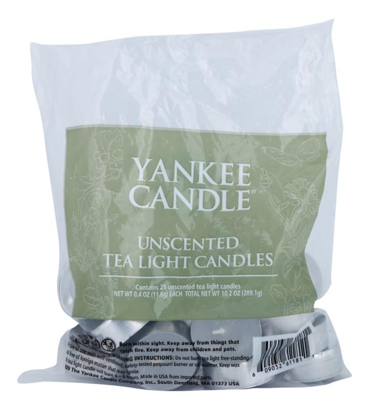 Yankee Candle Unscented čajová sviečka 25 ks