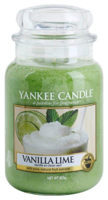 Yankee Candle Vanilla Lime vonná sviečka 623 g Classic veľká
