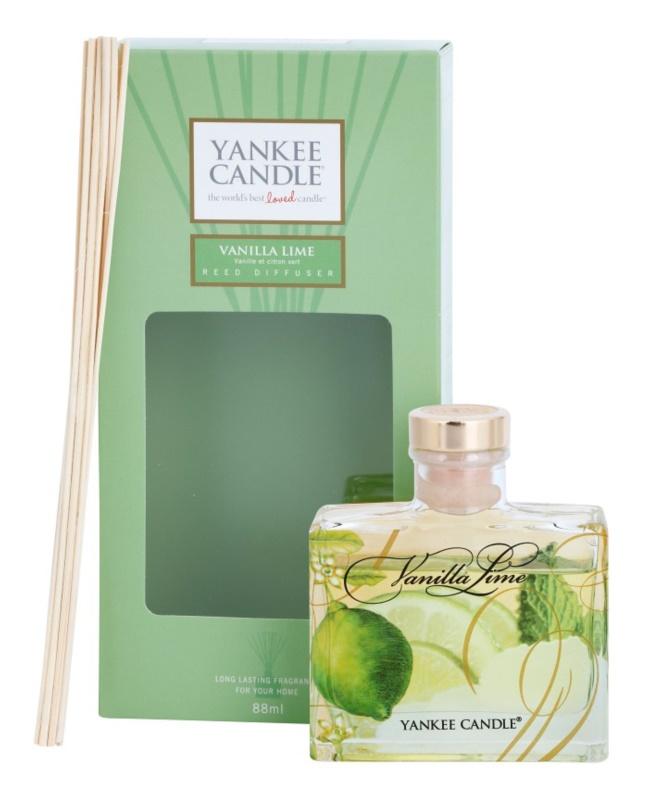 Yankee Candle Vanilla Lime dyfuzor zapachowy z napełnieniem 88 ml Signature