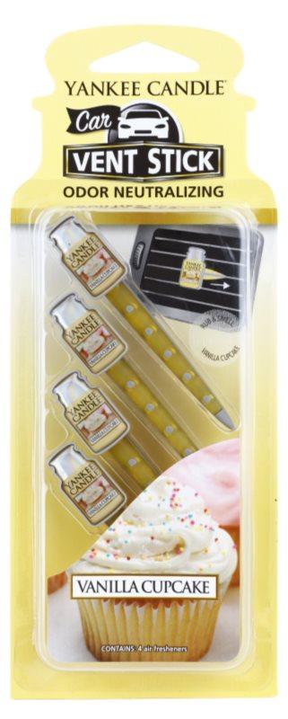 Yankee Candle Vanilla Cupcake parfum pentru masina 4 buc