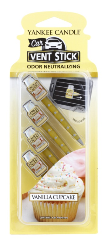 Yankee Candle Vanilla Cupcake vůně do auta 4 ks