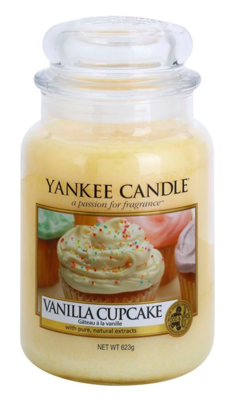 Yankee Candle Vanilla Cupcake lumânare parfumată  623 g Clasic mare
