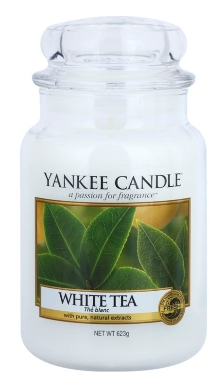 Yankee Candle White Tea vela perfumado 623 g Classic grande
