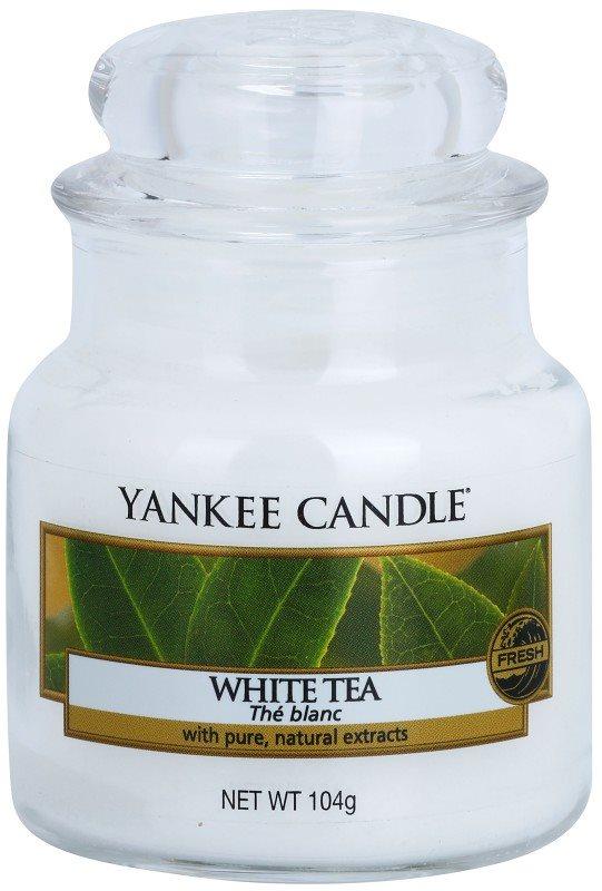 Yankee Candle White Tea vonná sviečka 104 g Classic malá
