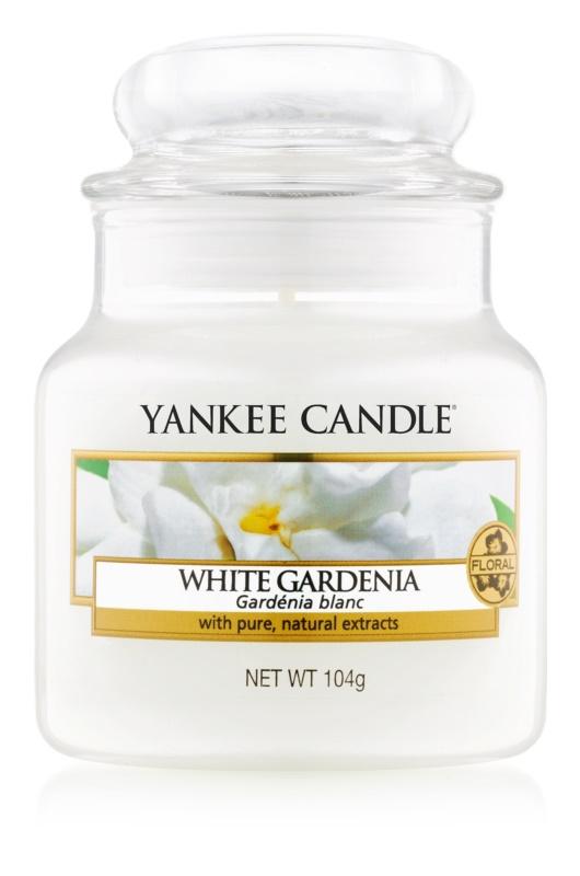 Yankee Candle White Gardenia candela profumata 104 g Classic piccola
