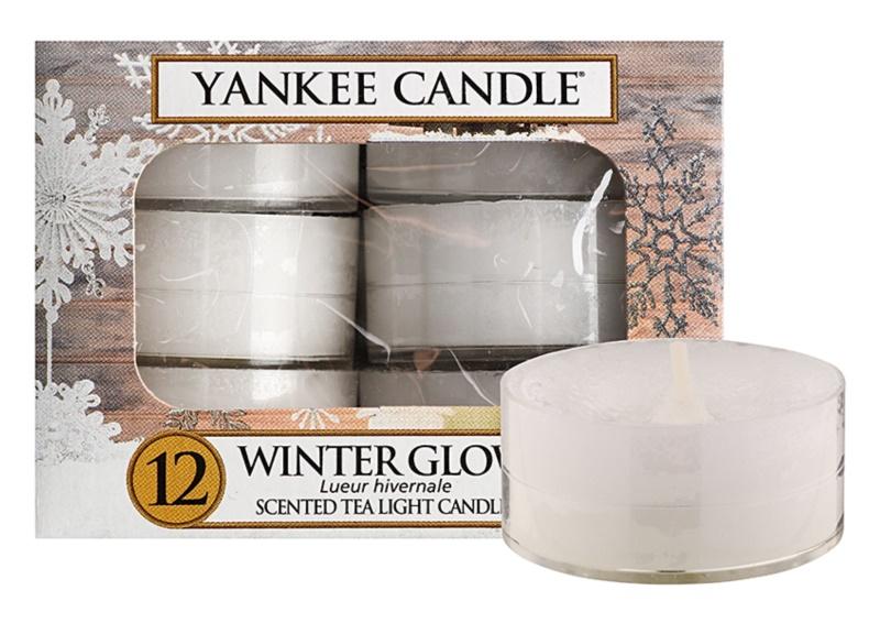 Yankee Candle Winter Glow čajová svíčka 12 x 9,8 g