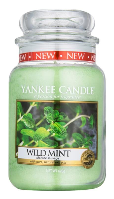Yankee Candle Wild Mint Αρωματικό κερί 623 γρ Κλασικό μεγάλο