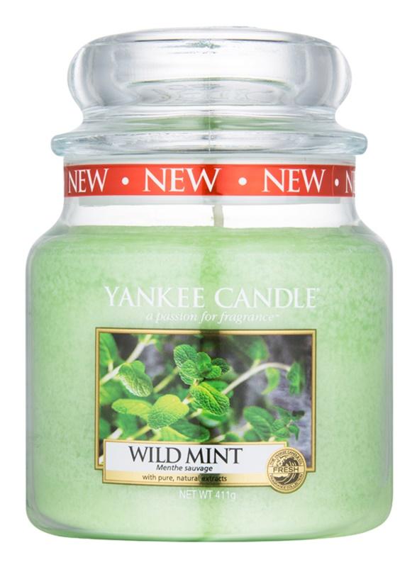 Yankee Candle Wild Mint ароматна свещ  411 гр. Classic средна