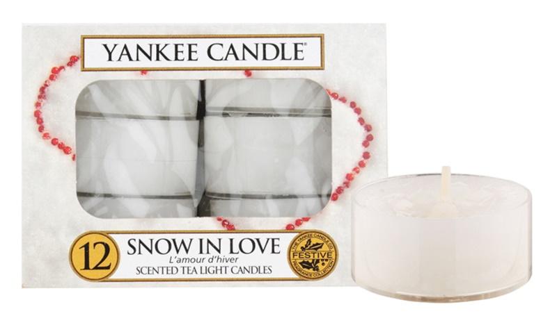 Yankee Candle Snow in Love świeczka typu tealight 12 x 9,8 g