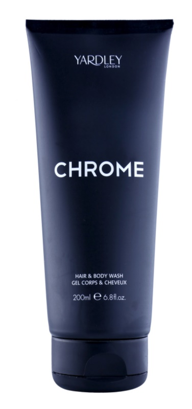 Yardley Chrome gel doccia per uomo 200 ml