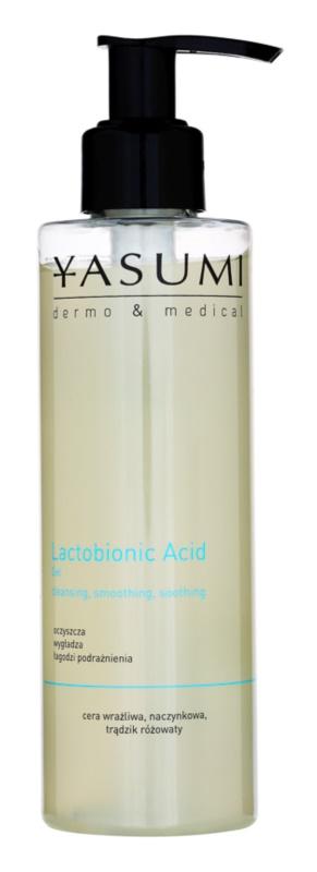 Yasumi Dermo&Medical Lactobionic Acid Reinigungsgel  für empfindliche Haut mit der Neigung zum Erröten