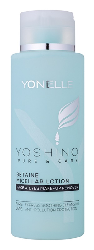 Yonelle Yoshino Pure&Care agua micelar con betaína para una hidratación intensa