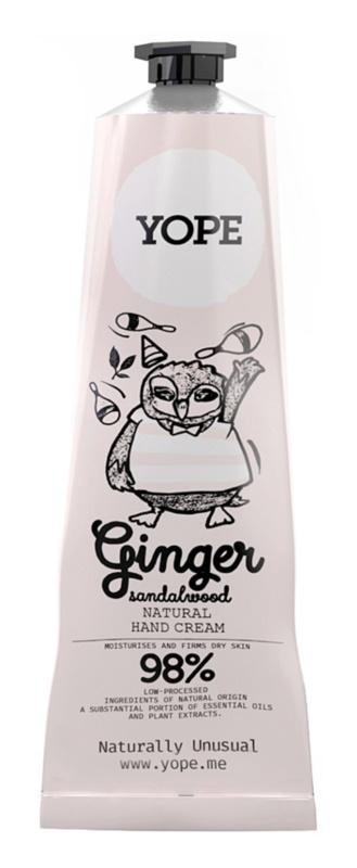 Yope Ginger & Sandalwood přírodní krém na ruce pro výživu a hydrataci