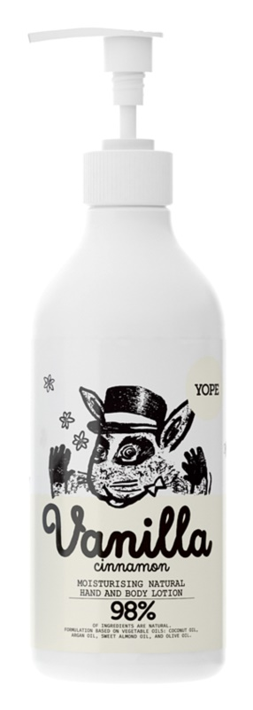 Yope Vanilla & Cinnamon hydratačné mlieko na ruky a telo