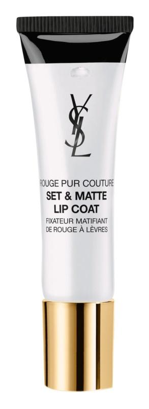 Yves Saint Laurent Rouge Pur Couture Set & Matte Lip Coat fixátor rtěnky s matným efektem