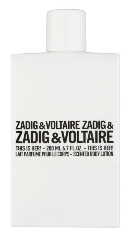 Zadig & Voltaire This Is Her! lotion corps pour femme 200 ml