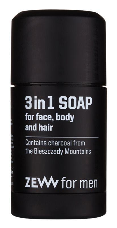 Zew For Men натуральне тверде мило для обличчя, тіла та волосся 3в1