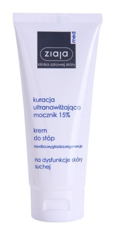 Ziaja Med Ultra-Moisturizing with Urea regenerierende Creme für die Fußsohlen mit feuchtigkeitsspendender Wirkung für die hornige Haut